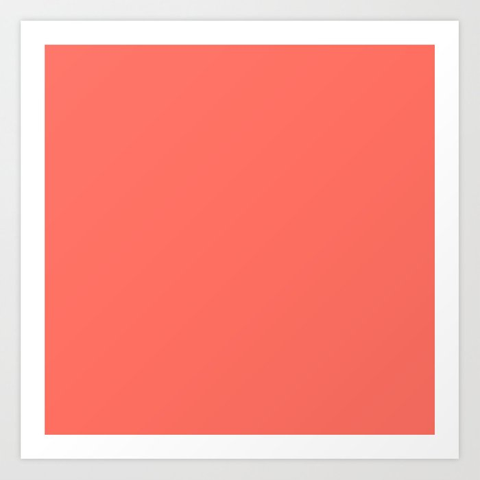 Living Coral 2019 Pantone Color of the Year Kunstdrucke