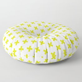 Criss Cross ((chartreuse)) Floor Pillow
