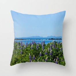 Scenic Alaskan Photography Print Throw Pillow