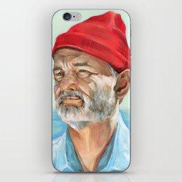 Steve Zissou Bill Murray Painted Portrait iPhone Skin