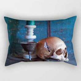Skull in dark setup 2 Rectangular Pillow