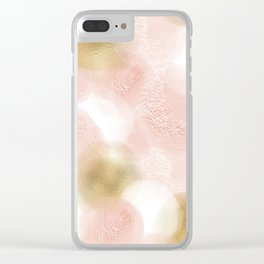 Rose Gold and Gold Blush Clear iPhone Case