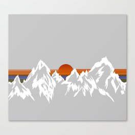 Sunset in the Appalachian Mountains Canvas Print