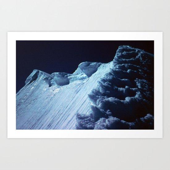 NATURE'S WONDER #2 - Glacier in the dark #art #society6 Art Print