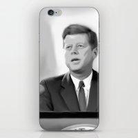 jfk iPhone & iPod Skins featuring JFK by Darkhorse