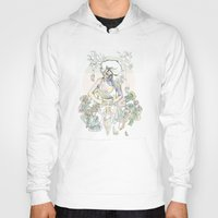 succulents Hoodies featuring cactus & succulents by Cassidy Rae Marietta