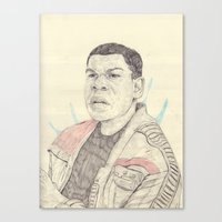 finn Canvas Prints featuring Finn by withapencilinhand