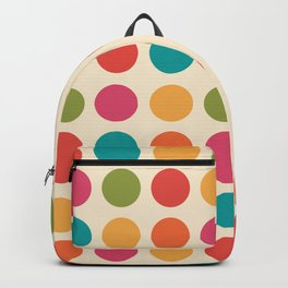 Mid Century Color Dots Backpack
