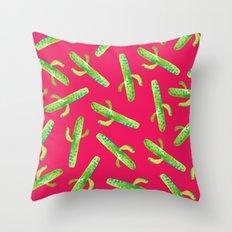 Hot Mess Of Cacti Throw Pillow