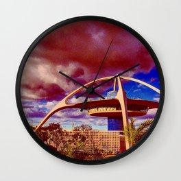 Red Future Wall Clock