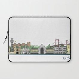 Lisbon skyline colored Laptop Sleeve
