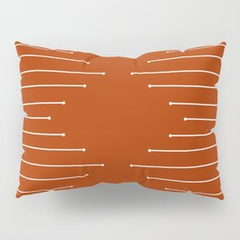 Terracotta geometric pattern Pillow Sham