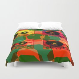AUDIOTAPES CAMOUFLAGE 1 Duvet Cover