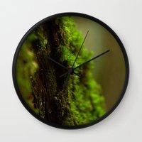 moss Wall Clocks featuring Moss by SachelleJuliaPhotography
