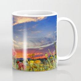 Poppies at sunset Coffee Mug