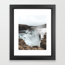 Gullfoss - Landscape Photography Framed Art Print