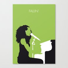 No066 MY KEYS Minimal Music poster Canvas Print