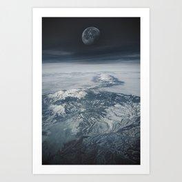 Moon Over Earth Art Print