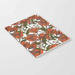 Autumnal flowering of poppies I Notebook