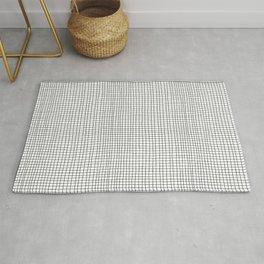 B&W Hand Drawn Grid Rug