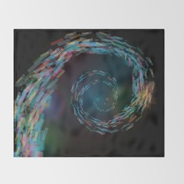 space spiral Throw Blanket