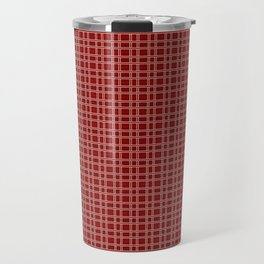 Decorative Bright Red Checkered Pattern Travel Mug