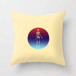 Retro Skeleton Throw Pillow