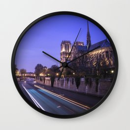 Notre Dame Evenings Wall Clock