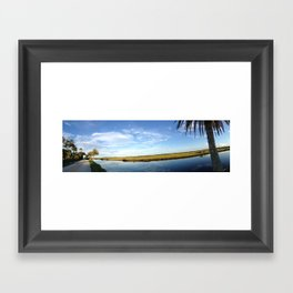 Highbridge Road, Florida panorama Framed Art Print