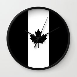 Canada: Black Military Flag Wall Clock