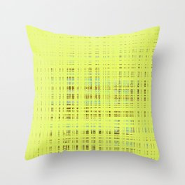 Multi-color squares on yellow background Throw Pillow