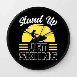Stand Up Jet Ski Vintage Wall Clock