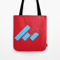 I Like You Graphik: Blue Type Tote Bag