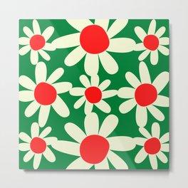 Holiday Floral Pattern Vintage by Christie Olstad Metal Print