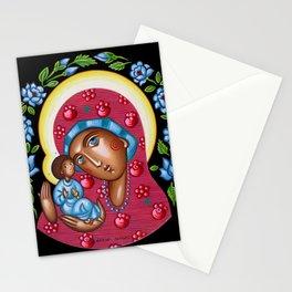 modern folk icon - Folk Madonna 3 Stationery Cards