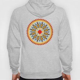 Mandala warm colour pallette Hoody