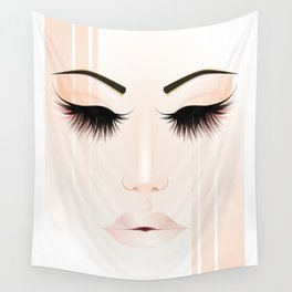 Rose Gold Girl Wall Tapestry