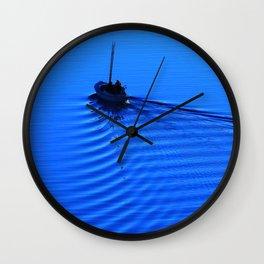 Vibrant Sailing to the Blues Wall Clock
