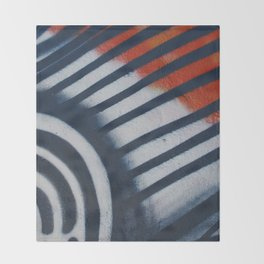 Red White & Blue Graffiti Throw Blanket