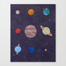 The 9 Planets! Canvas Print
