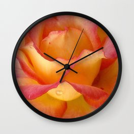 Dew Drop Fire Rose, 2012 Wall Clock