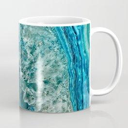 Aqua turquoise agate mineral gem stone Coffee Mug