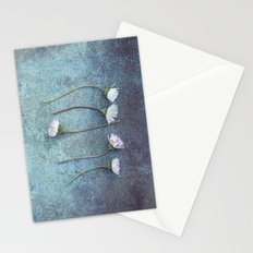 Daisies in a row Stationery Cards