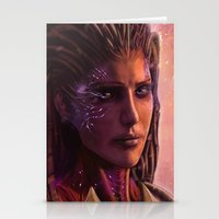 starcraft Stationery Cards featuring Sarah Kerrigan  by p1xer