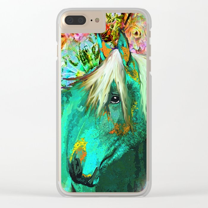 HORSE IN THE GARDEN Clear iPhone Case