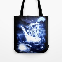 """""""High-Voltage Ghost Ship"""" Tote Bag"""