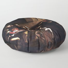 Caravaggio The Calling of Saint Matthew Floor Pillow