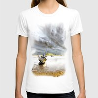 boat T-shirts featuring Boat by Gouzelka