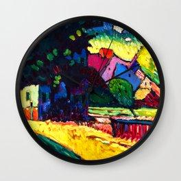 Wassily Kandinsky - Murnau, Landscape with Green House - Abstract Art Wall Clock