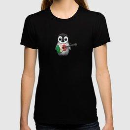Baby Penguin Playing Italian Flag Guitar T-shirt